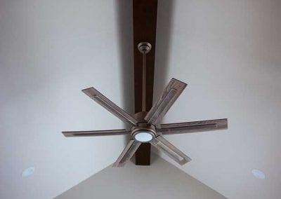 newly installed ceiling fan