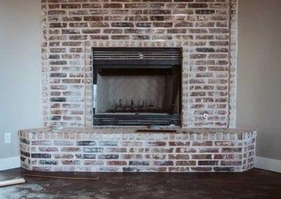 new brick installation on chimney