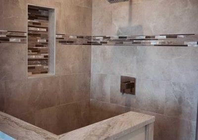 creative shower installation