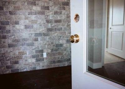 newly installed exterior door
