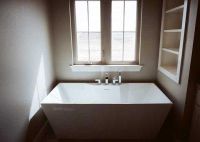newly installed bath tub