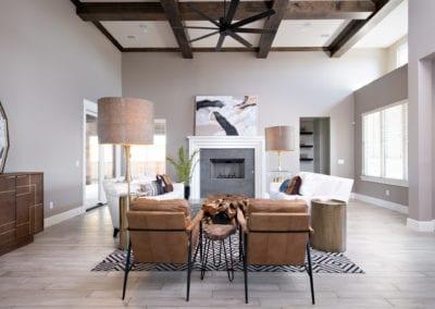 living area custom home