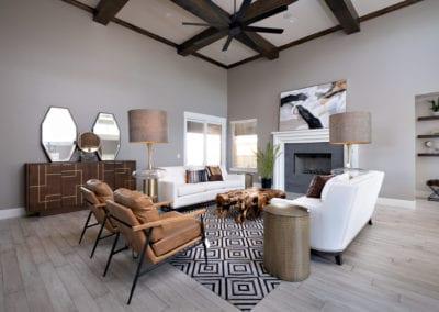 modern living room custom home